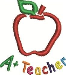 Teacher Apple embroidery design