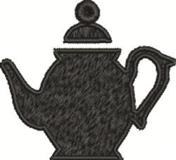 Teapot Silhouette embroidery design