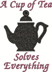A Cup Of Tea embroidery design