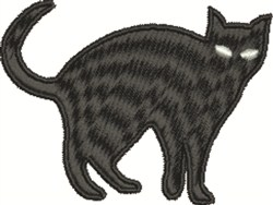 Trouble Cat embroidery design