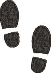 Shoeprint embroidery design