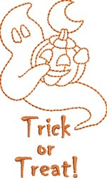 Trick Ghost embroidery design