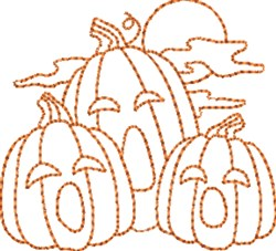 Pumpkin Outlines embroidery design