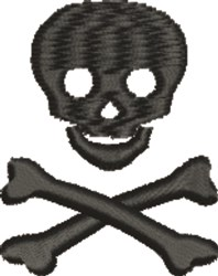 Skull Crossbones embroidery design