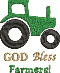 God Bless Farmers embroidery design