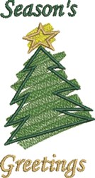 Seasons Greetings Tree embroidery design