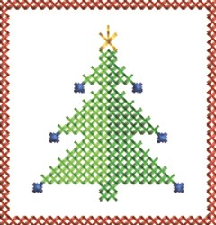Decoration Tree embroidery design