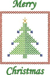 Merry Christmas Cross Stitch embroidery design
