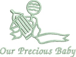 Our Precious Baby embroidery design
