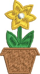 Potted Flower embroidery design