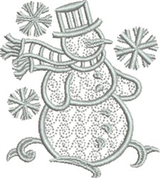 Wintry Snowman embroidery design
