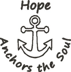 Hope Anchor embroidery design