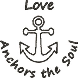 Love Anchor embroidery design