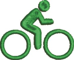 Cyclist embroidery design