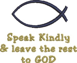 Ichthys Speak Kindly embroidery design