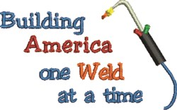 America Welding embroidery design