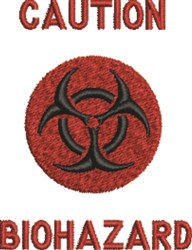 Caution Biohazard Symbol embroidery design