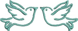 Dove Pair embroidery design