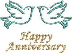 Anniversary Dove Pair  embroidery design