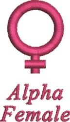 Alpha Female Symbol embroidery design
