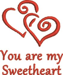 Twin Hearts Sweetheart embroidery design