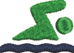 Just Keep Swimming embroidery design