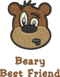 Beary Best embroidery design