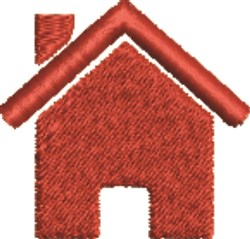 House Silhouette embroidery design