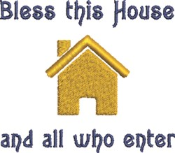 Bless House embroidery design