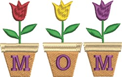 Mom Tulips embroidery design
