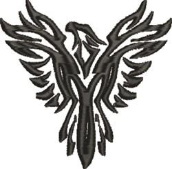 Phoenix Silhouette embroidery design