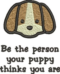 Puppy Person embroidery design