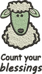 Sheep Blessings embroidery design