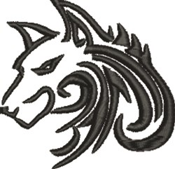 Wolf Head embroidery design