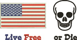Live Free Or Die embroidery design