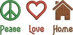 Peace Love Home  embroidery design