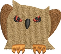 Scary Owl embroidery design