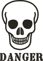 Halloween Skull Danger embroidery design