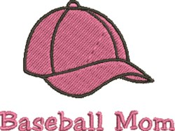 Baseball Mom Cap embroidery design