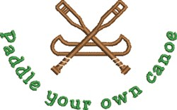 Paddle Your Canoe embroidery design