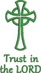 Celtic Cross Pray embroidery design