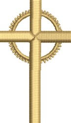 Crucifix embroidery design