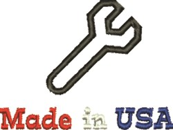 Made In USA Wrench embroidery design
