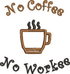 No Coffee embroidery design