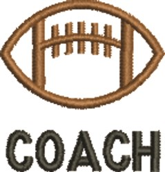 Football Coach embroidery design