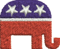 GOP Symbol embroidery design