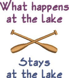 At The Lake embroidery design