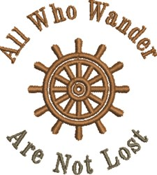 All Who Wander embroidery design