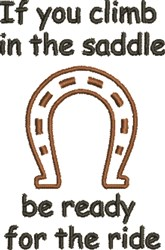 In The Saddle embroidery design