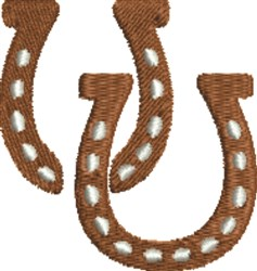 Horseshoe Pair embroidery design